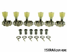NEW Kluson Revolution Diecast LOCKING TUNERS 3x3 Nickel Pearl Keys KEDPL-3801N