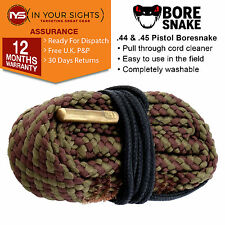.44 & .45 calibre Bore Snake cleaner cord /Pistol boresnake pull through cleaner