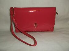 COLE HAAN~ PINK PATENT LEATHER WRISTLET PHONE WALLET