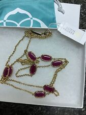 Kendra Scott Purple Jade Kelsie Necklace