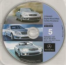 2007 Update Mercedes CD Base Navigation Map #5 Cover MI + Partial WI IL IN OH