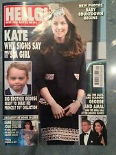 HELLO KATE MIDDLETON JANUARY 2015 celebrity UK BRITISH MAGAZINE ENGLISH UNREAD