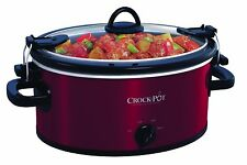 Crock-Pot SCCPVL400-R 4-Quart Cook and Carry Slow Cooker, Red Stainless Steel