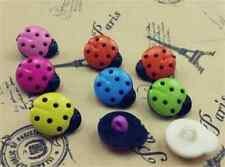LadyBugs Black Body Multicolor Plastic Novelty Buttons/ DIY Sewing supplies