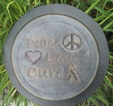 Gostatue MOLD breast cancer peace love cure concrete stepping stone mould