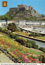 POSTCARD  - JERSEY - Mont Orgueil Castle and Gorey Harbour - 1987 - Bamforth
