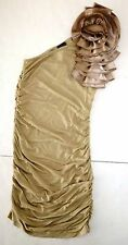*NWT* JOYCE LESLIE ONE SHOULDER SHORT COCKTAIL DRESS TAUPE SIZE SMALL T26 A1