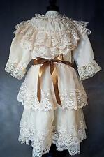 Beautiful All Lace Dress for Large Antique French Bebe or German Doll
