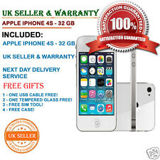 Apple iPhone 4s 32GB White (Unlocked) Smartphone B++ GOOD Condition + FREE GIFTS