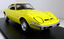 Atlas 1/24 Scale Opel GT 1900 1970 Yellow + Display Case Diecast model car