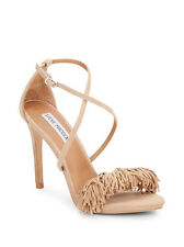 New $135 Steve Madden Florela Fringed Suede Dress Heels (US 9.5)