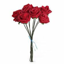Red Artificial Foam Rose 10x PE Floral Flowers Bridal Wedding Decor