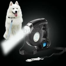 3 In 1 Retractable Extendable Dog Pet Leash Lead w/ LED Flashlight & Garbage Bag