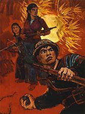 Publicité Guerre Vietnam l'impérialisme américain SOLDAT GRENADE Jungle Art Poster Print lv7127