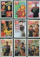El distorsionaba Star Trek DS9 Set Completo De 9 Tarjetas de guía de TV
