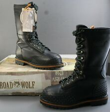 Men's Road Wolf Lace Up Work Boot Down Under Safety Toe 8.5M biker riding boots