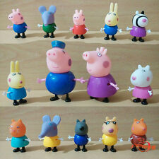 14pcs/Lot Peppa Pig Grandpa Grandma Family & Friends Cartoon Figure Toys Gift