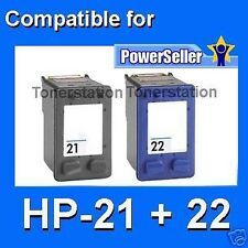 2x INK Cartridge HP 21XL 22XL for Deskjet 3910 D1460 D1550 D2460 F2100 F340 F390