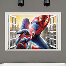 3D Amazing Spiderman Wall Stickers Vinyl Art Decal Boys Kids Bedroom Removable