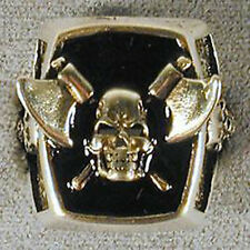 1 DELUXE PIRATE SKULL WITH AXES SILVER BIKER RING BR173 mens jewelry RINGS NEW