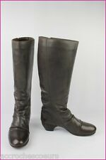 Bottes KICKERS Elsoho Cuir Marron Taupe T 39/39,5 TBE