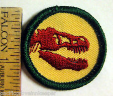 Girl Scout Junior PALEONTOLOGY BADGE Council Patch Dinosaur Tyrannosaurus Rex