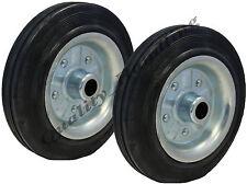 """2 - 200mm solido disco di gomma CENTRALE IN ACCIAIO 200Kg ogni 8 """"Truck RUOTE"""