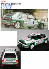 DECALS 1/43 LANCIA DELTA 16V BORSA RALLY VALLI OSSOLANE 1991