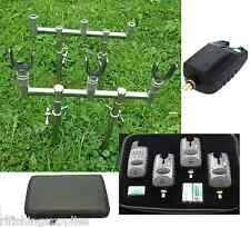 CARP FISHING GOAL POST BUZZ BARS, BANK STICKS + 3 X U RESTS + WIRELESS ALARM SET