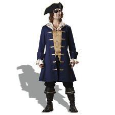 Regal Pirate King Deluxe Buccaneer Halloween Sparrow Captain Mens Costume