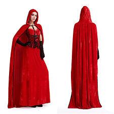 Neu Halloween Karneval Damen Kostüm Märchen Rotkäppchen Cosplay Kleid Outfit
