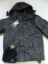 NWT Men's Zero XPosur Winter Jacket Size Small Snowboard Hood Black Coat Parka