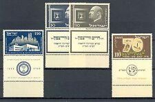 ISRAEL 1952  MI# 72 , 77/79   FULL TAB  CV € 69  **  PF  MNH  LUXE
