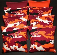 All Weather VIRGINIA TECH University HOKIES CORNHOLE BEAN BAGS V Tech Camo Game