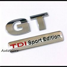 GT TDI Sport Edition Badge Emblem Logo Decal Sticker Boot Rear Tailgate Trunk