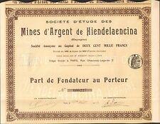 Rare =  Mines d'Argent de HIENDELAENCINA (ESPAGNE) (G)