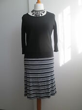 Black & White Heavy Jersey Dress from Betty Barclay, Size 12