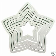 PME qualità STELLA COOKIE CUTTER SET - 6 Lame da mm a 125mm