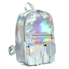 Silver Hologram Lase r School bag Students Harajuku Preppy Stylish  Backpack