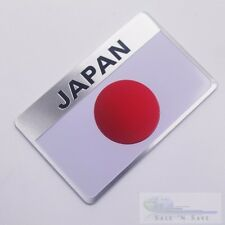 Japan Flag Emblem Fits Toyota/Honda/Mitsubishi/Nissan Sports Badge Decal Sticker