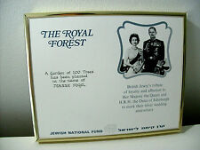The Royal Forest Jewish National Fund British Queen Silver Wedding Anniversary