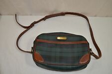 Polo Ralph Lauren Crossbody Handbag Green Check Leather Plaid 1159-4-11