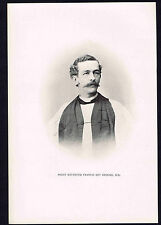 Bishop Francis Key Brooke  -Episcopal Diocese  Oklahoma-1895 Portrait Print