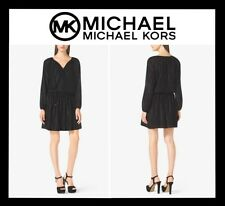 MICHAEL KORS METALLIC JACQUARD DRESS SEXY COCKTAIL SZ S BLACK (NEW) MRSP $175