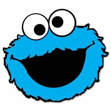 Cookie Monster Sesame Street Vynil Car Sticker Decal   5""