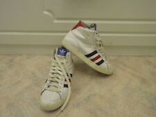 Adidas Classic Basket Profi Hi Top Leather Basketball Boots White Red  Blue UK8