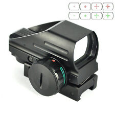 20mm Picatinny Rail Tactical Holographic Reflex Red Green Laser Dot Sight Scope