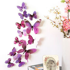 12pcs Home 3D Butterfly Wall Stickers Art Design Decal DIY Decor Room Decoration