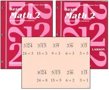 Saxon Math Grade 2 Student Workbooks & Fact Cards