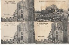 Lot 4 cartes postales anciennes GUERRE 14-18 WW1 MARNE VIRGINY